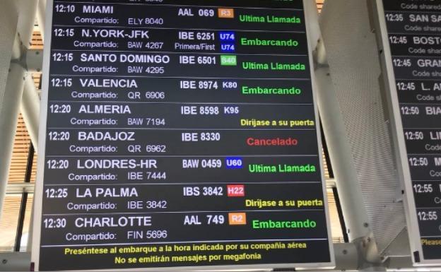Cancelados los vuelos Madrid-Badajoz y Badajoz-Madrid de este jueves (HOY.ES)