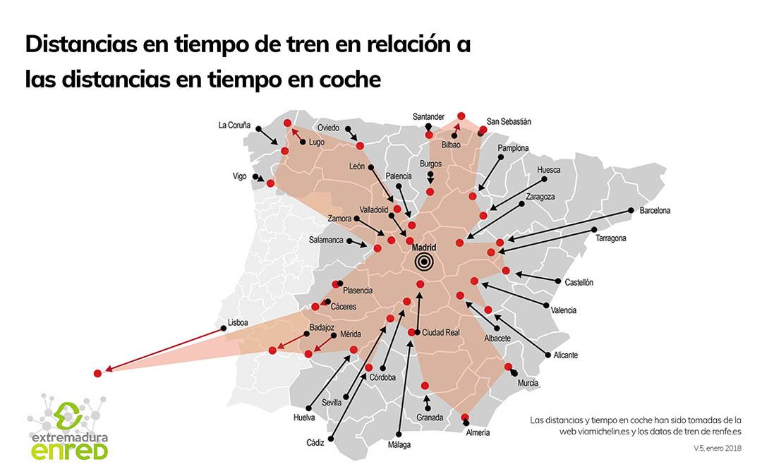 Extremadura, la región donde el tren no mejora los tiempos por carretera (FINANZAS.COM)