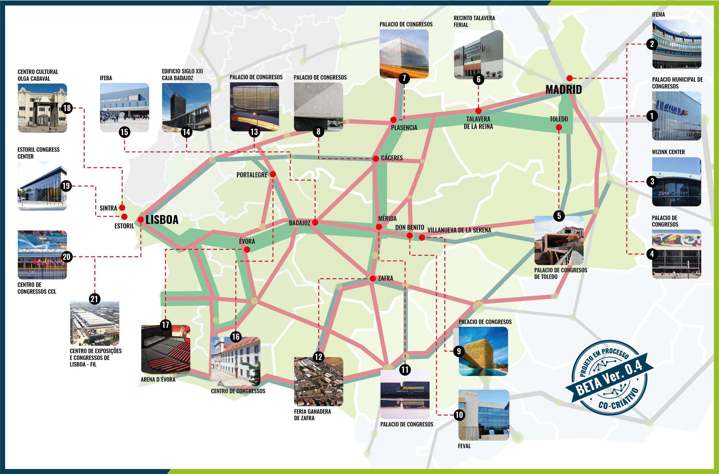 corredor infraestructuras de congresos