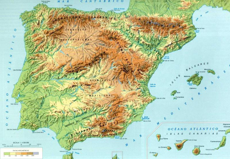 mapa iberico El Sudoeste ibérico   Corredor Sudoeste Ibérico mapa iberico