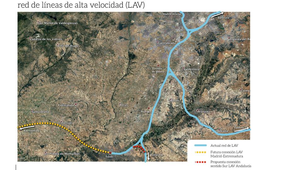 (Español) PROPUESTA V. CONEXIÓN CON LA LÍNEA DE ALTA VELOCIDAD MADRID- SEVILLA