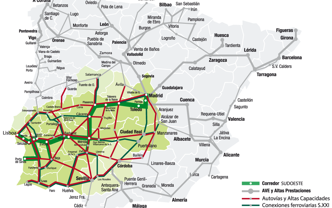 Building the Southwest Iberian Corridor